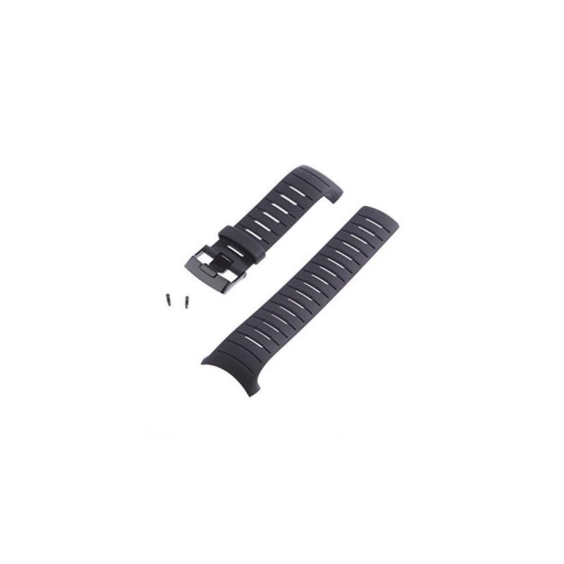 Suunto D6I All Black Band Strap W/ Screws (Stronger Strap For D6 Dive Computer)
