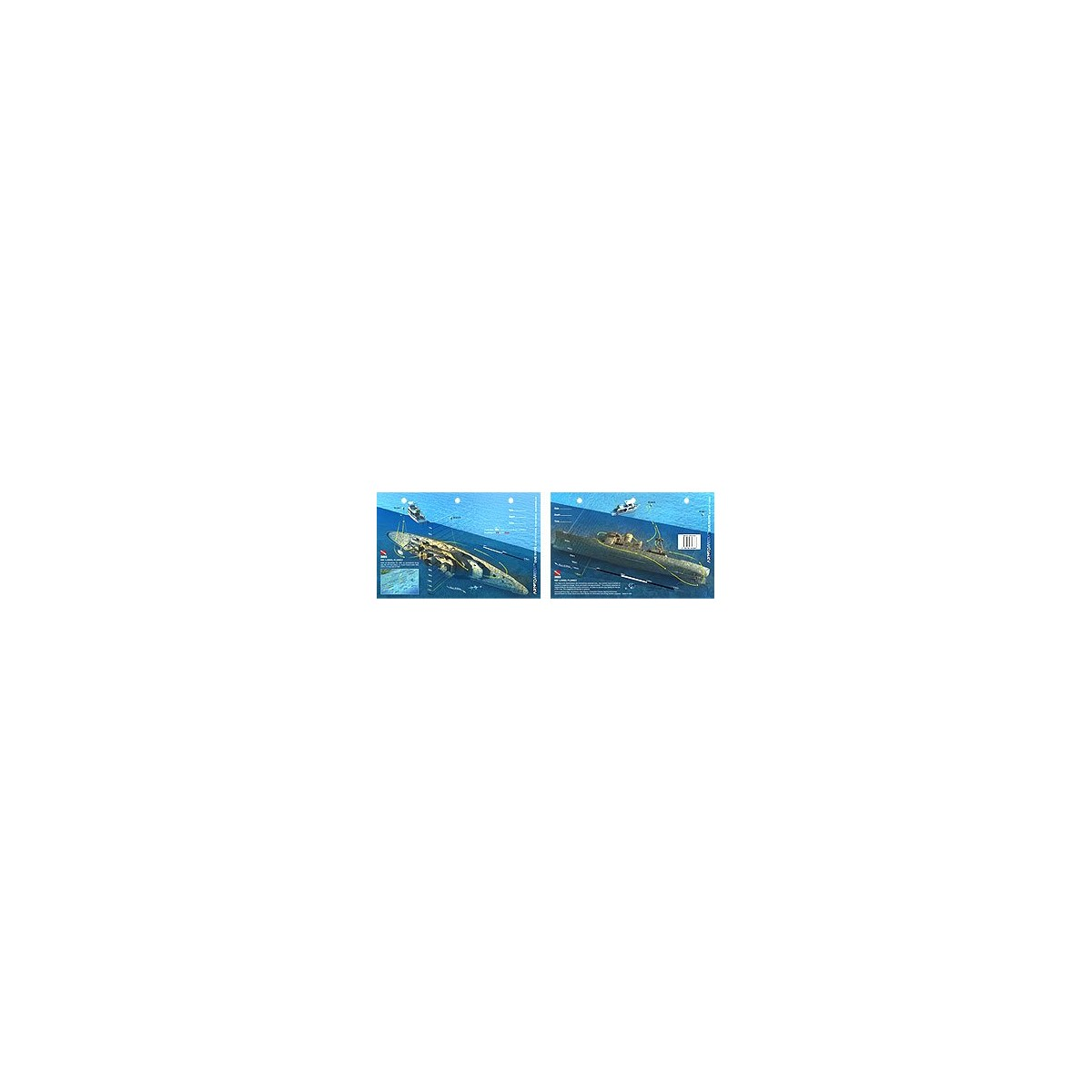 Bibb in Key Largo, Florida (8.5 x 5.5 Inches) (21.6 x 15cm) - New Art to Media Underwater Waterproof 3D Dive Site Map