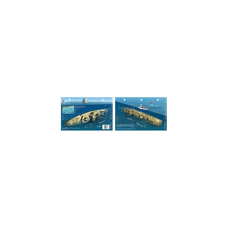Yukon in San Diego, California (8.5 x 5.5 Inches) (21.6 x 15cm) - New Art to Media Underwater Waterproof 3D Dive Site Map