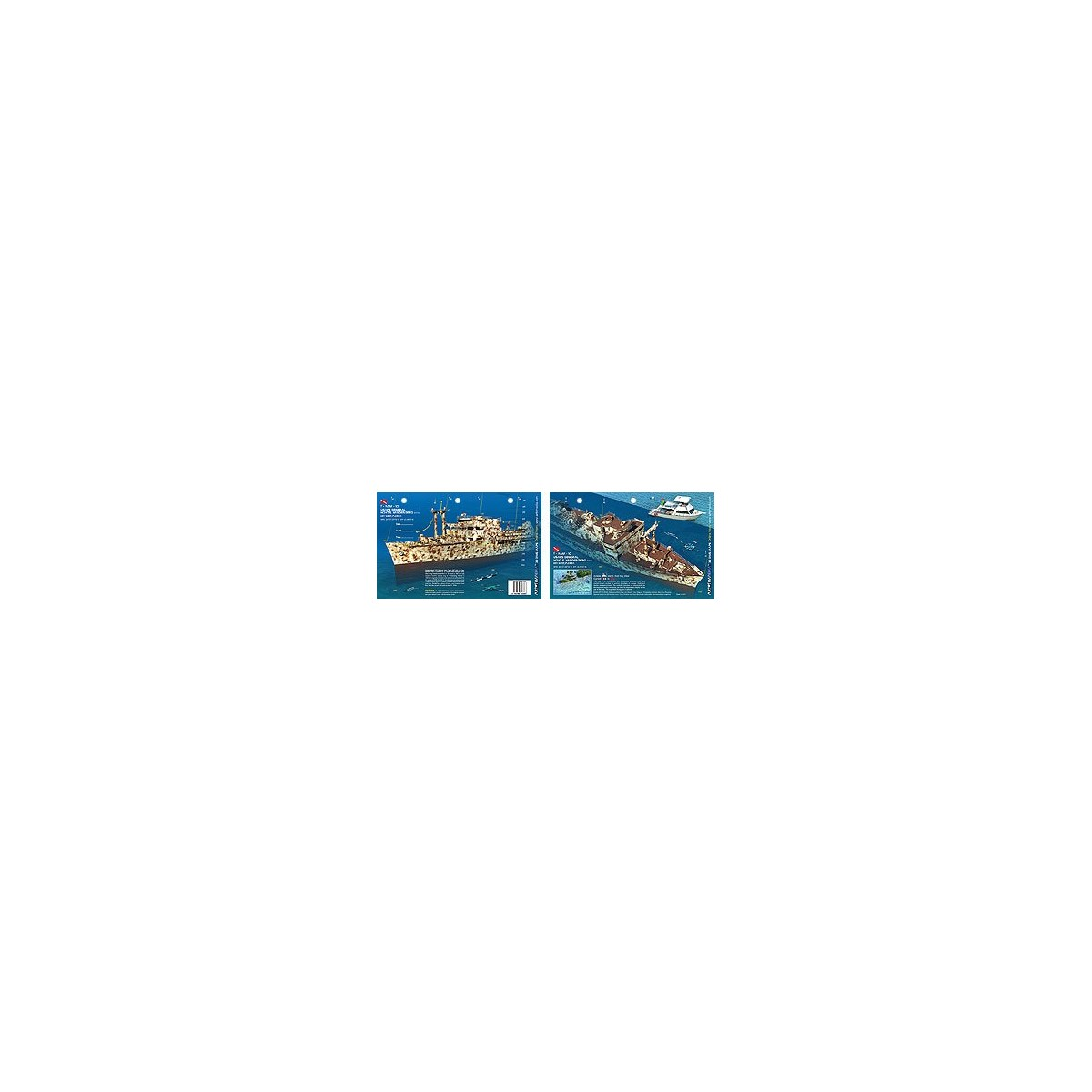 Vandenberg Bow in Key West, Florida (8.5 x 5.5 Inches) (21.6 x 15cm) - New Art to Media Underwater Waterproof 3D Dive Site Map