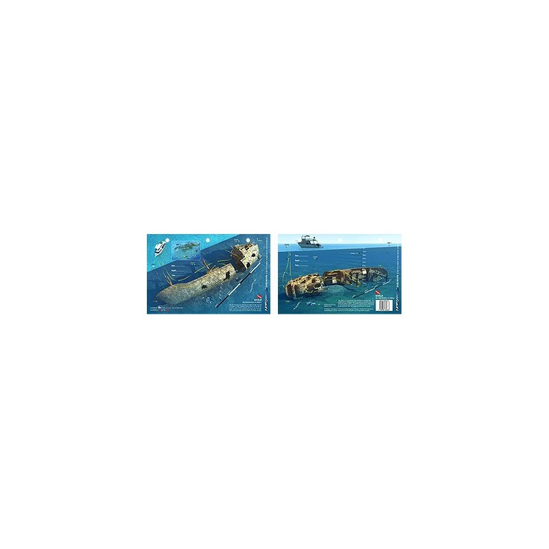 Eagle in Islamorada, Florida (8.5 x 5.5 Inches) (21.6 x 15cm) - New Art to Media Underwater Waterproof 3D Dive Site Map