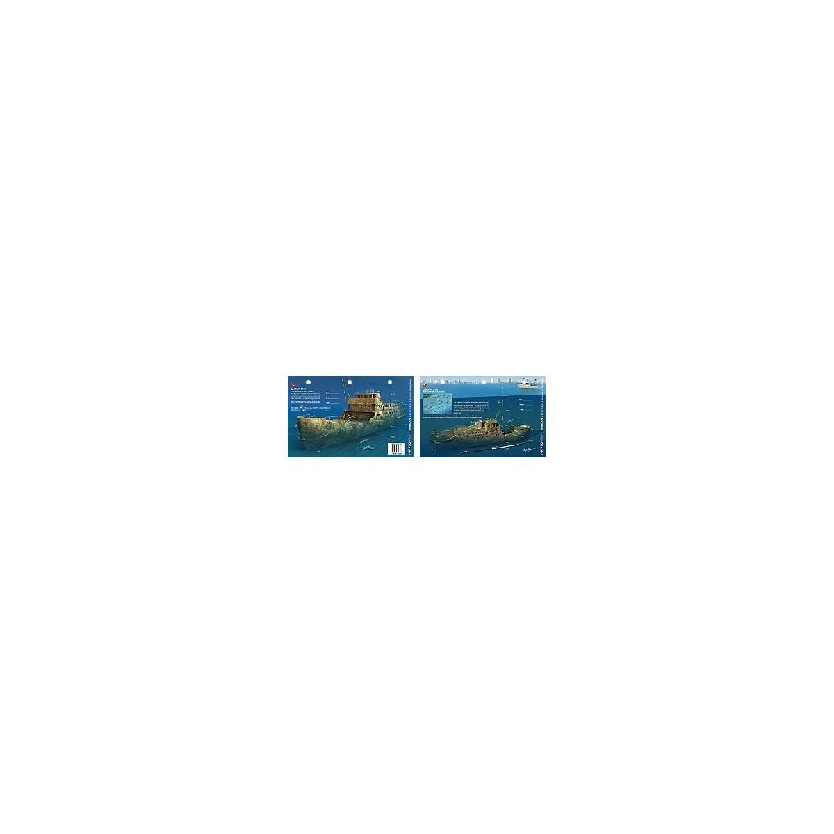 Captain Dan in Fort Lauderdale, Florida (8.5 x 5.5 Inches) (21.6 x 15cm) - New Art to Media Underwater Waterproof 3D Dive Site M