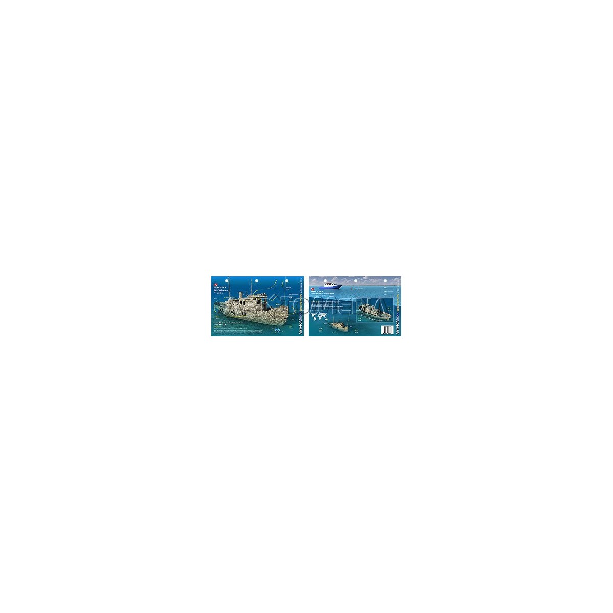 Mary Alice B in Lake Huron (8.5 x 5.5 Inches) (21.6 x 15cm) - New Art to Media Underwater Waterproof 3D Dive Site Map