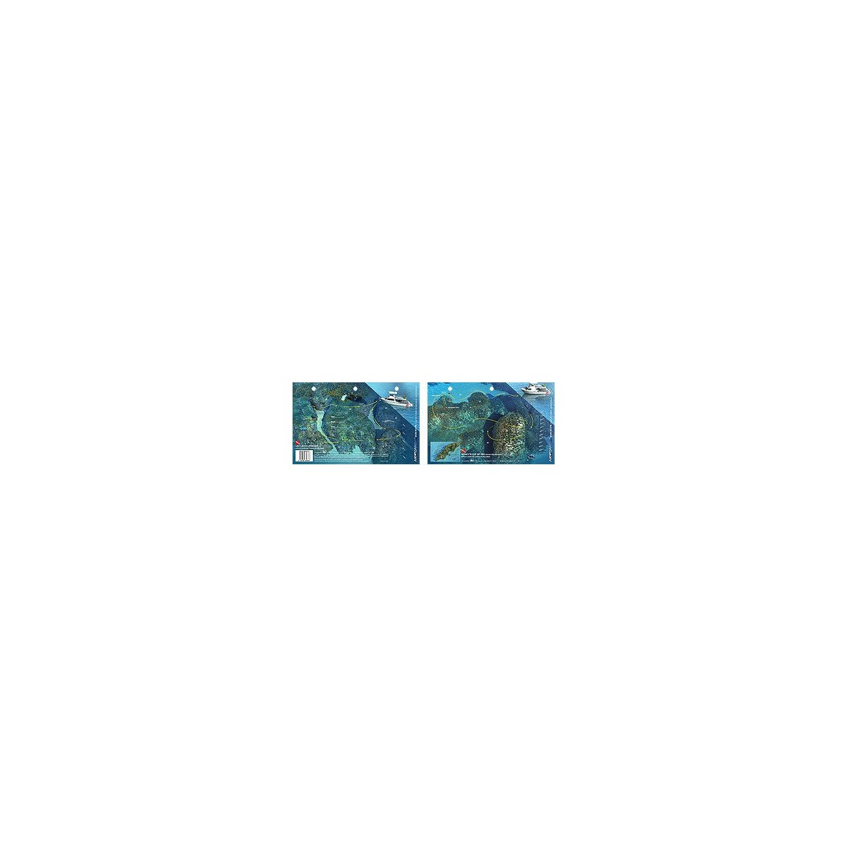 Stingray City in Grand Cayman, Cayman Islands - New Art to Media Underwater Waterproof 3D Dive Site Map