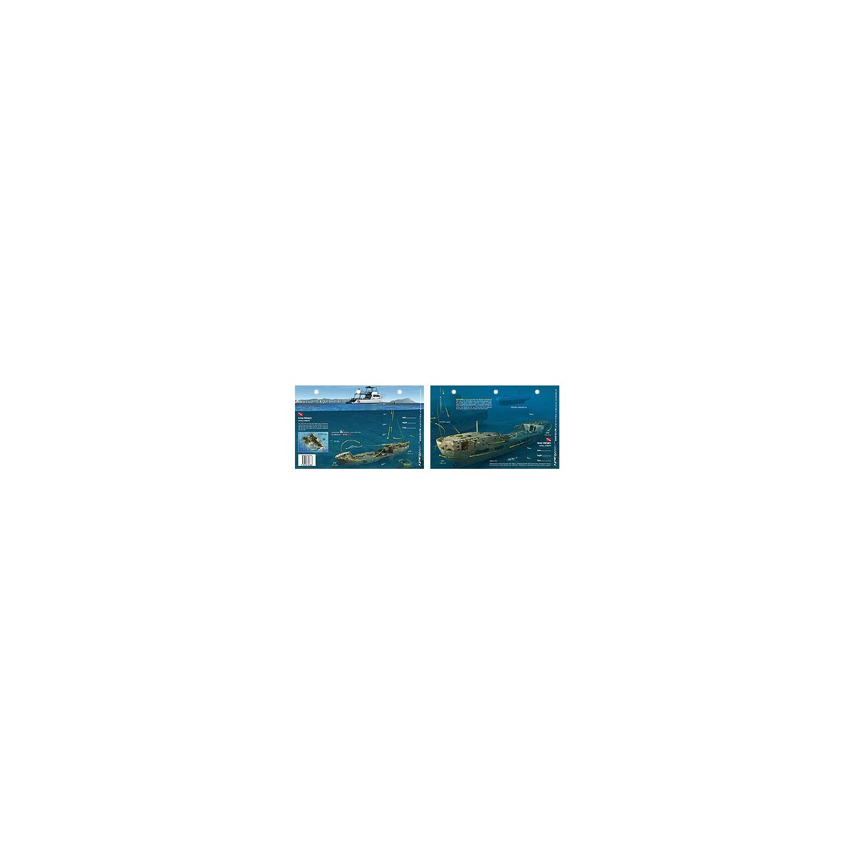 San Pedro in Oahu, Hawaii (8.5 x 5.5 Inches) (21.6 x 15cm) - New Art to Media Underwater Waterproof 3D Dive Site Map