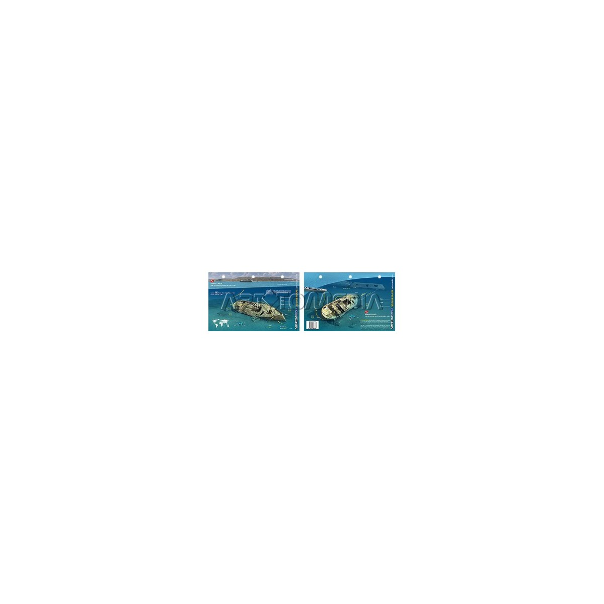 Spring Carol in Santiago de Cuba (8.5 x 5.5 Inches) (21.6 x 15cm) - New Art to Media Underwater Waterproof 3D Dive Site Map