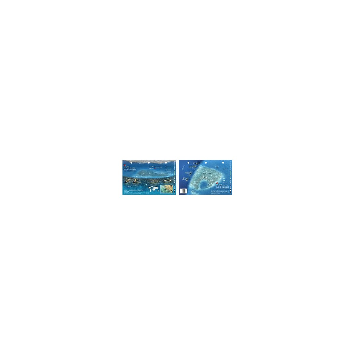 Sa`ab Abu Nuhas in the Red Sea, Egypt (8.5 x 5.5 Inches) (21.6 x 15cm) - New Art to Media Underwater Waterproof 3D Dive Site Map