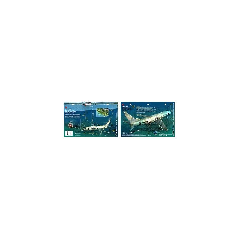 Xihwu Boeing 737 in Chemainus, British Columbia, Canada (8.5 x 5.5 Inches) - New Art to Media Underwater Waterproof 3D Dive Site