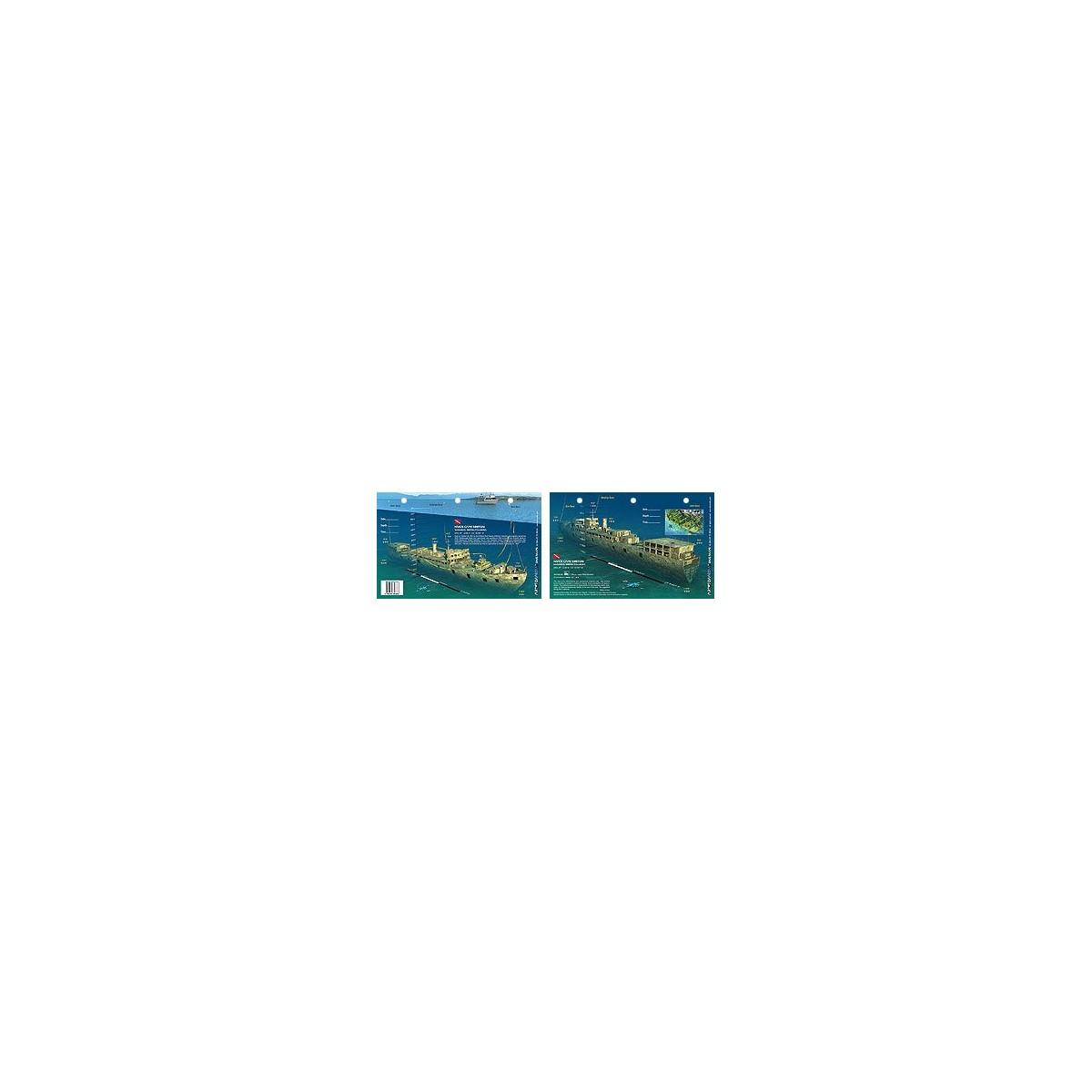 HMCS Cape Breton in Nanaimo, British Columbia, Canada (8.5 x 5.5 Inches) - New Art to Media Underwater Waterproof 3D Dive Site M