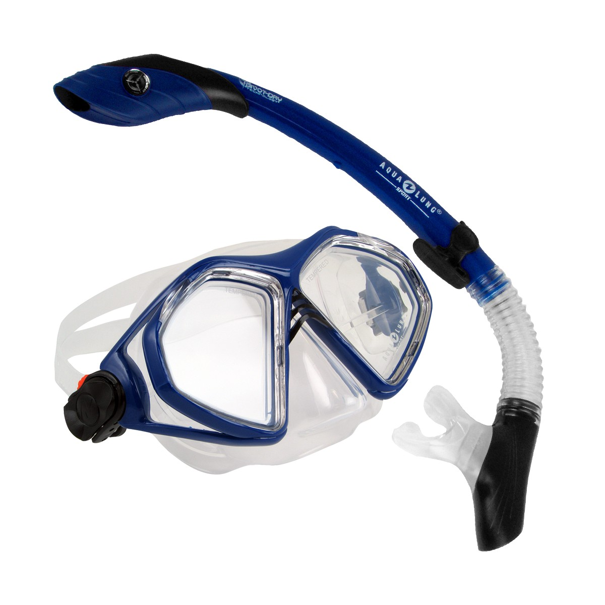 Aqua Lung Admiral 2 LX, Island Dry LC Combo Dive Mask & Snorkel